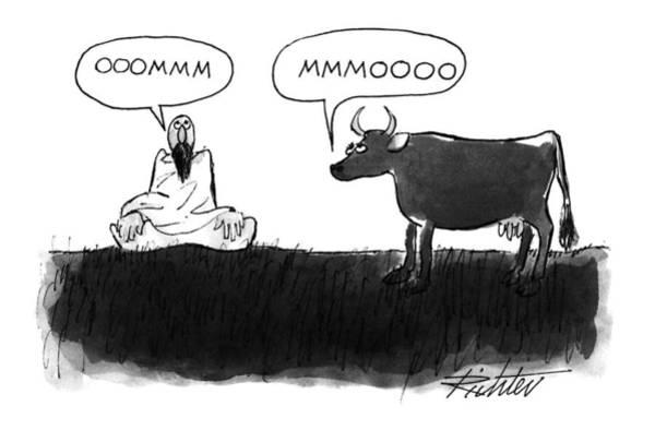 Guru Drawing - New Yorker July 26th, 1993 by Mischa Richter