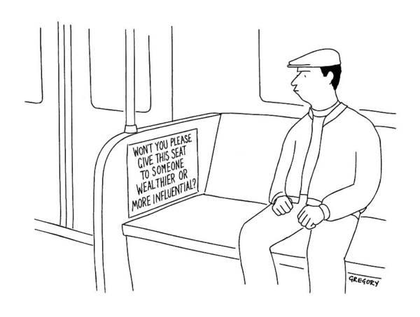 People Drawing - New Yorker July 26th, 1999 by Alex Gregory