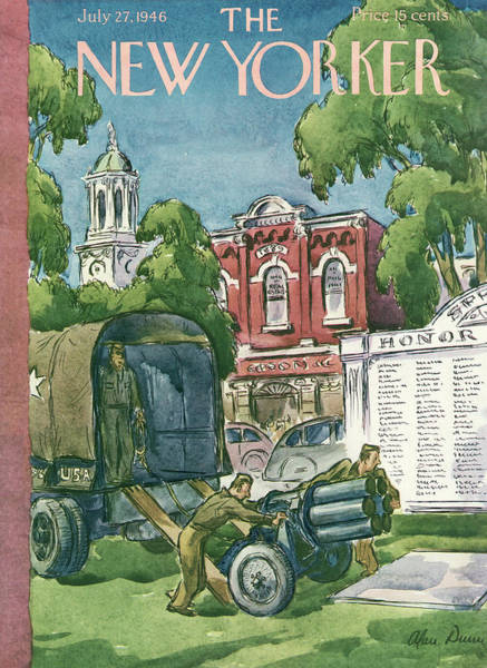 Suburban Painting - New Yorker July 27th, 1946 by Alan Dunn
