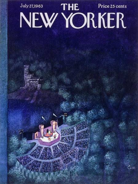 Night Painting - New Yorker July 27th 1963 by Charles Martin