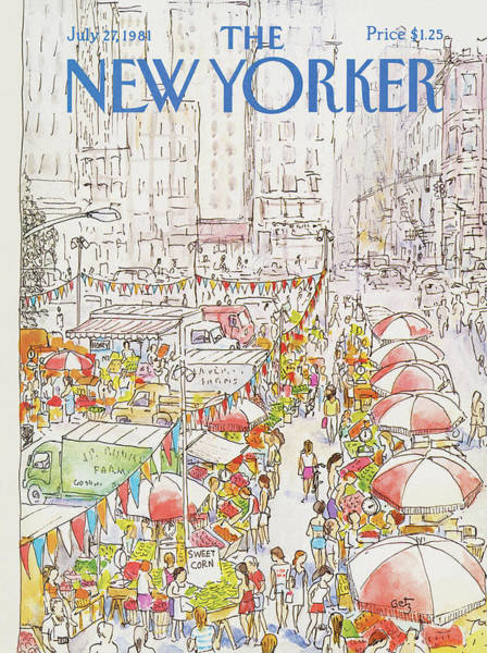 Skyscrapers Painting - New Yorker July 27th, 1981 by Arthur Getz