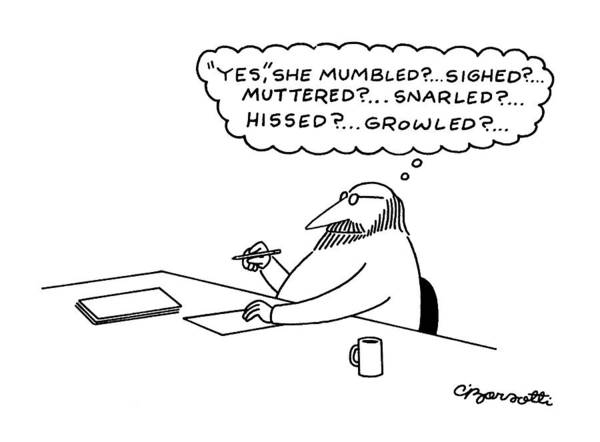 Writings Drawing - New Yorker July 27th, 1981 by Charles Barsotti
