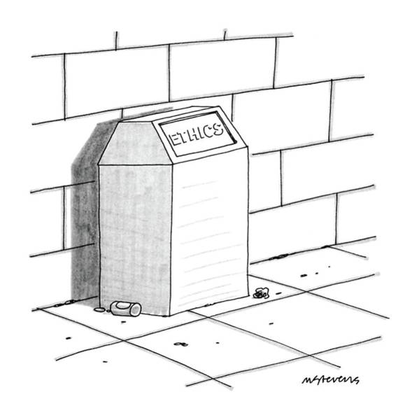Trash Drawing - New Yorker July 27th, 1987 by Mick Stevens