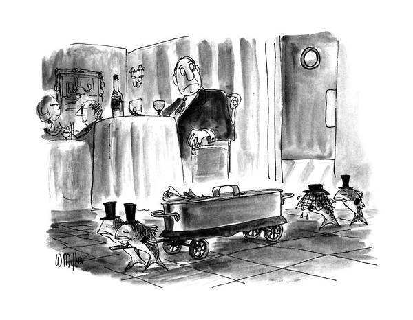 Dine Drawing - New Yorker July 27th, 1992 by Warren Miller