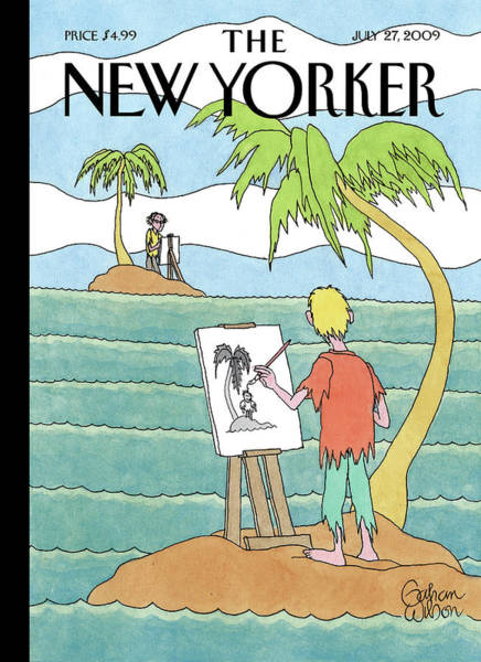 Water Painting - New Yorker July 27th, 2009 by Gahan Wilson