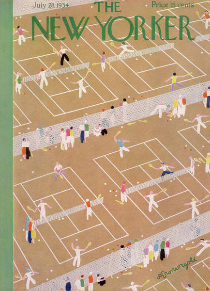 Sports Painting - New Yorker July 28th, 1934 by Adolph K Kronengold