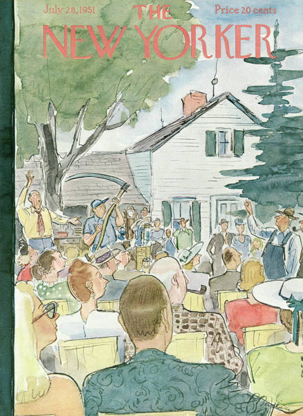 Suburban Painting - New Yorker July 28th, 1951 by Perry Barlow