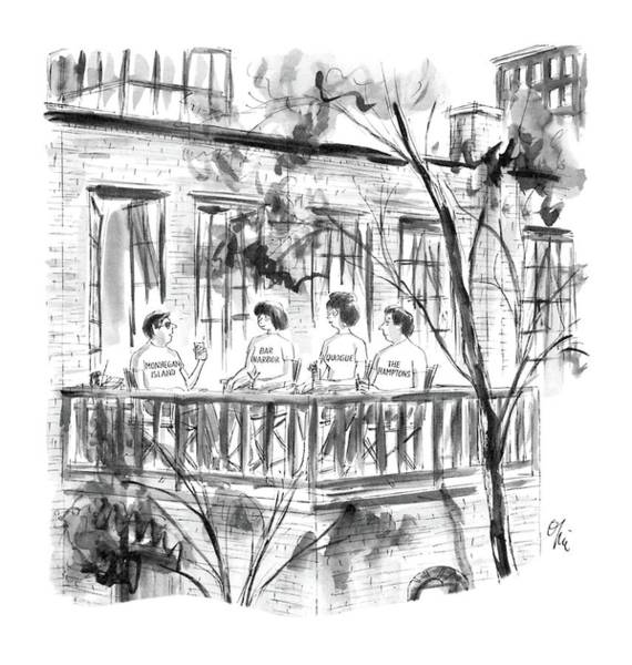 Drink Drawing - New Yorker July 28th, 1986 by Everett Opie