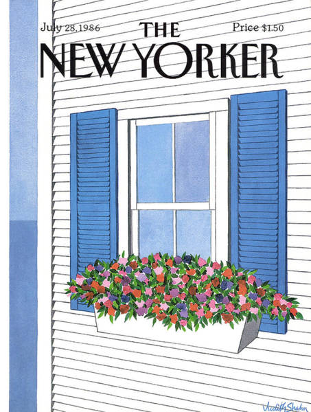 Flower Painting - New Yorker July 28th, 1986 by Judith Shahn