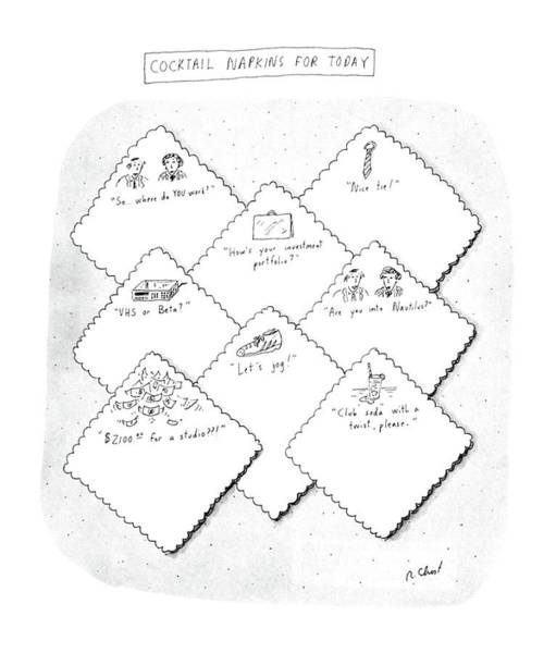 Print Drawing - New Yorker July 28th, 1986 by Roz Chast