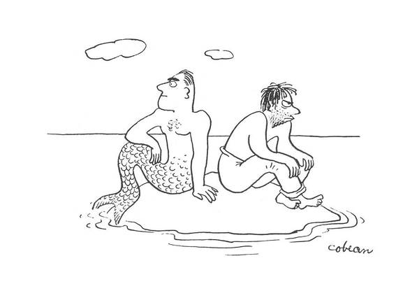 Shipwreck Drawing - New Yorker July 29th, 1944 by Sam Cobean