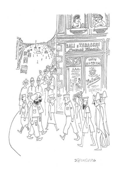 July 29th Drawing - New Yorker July 29th, 1944 by Saul Steinberg