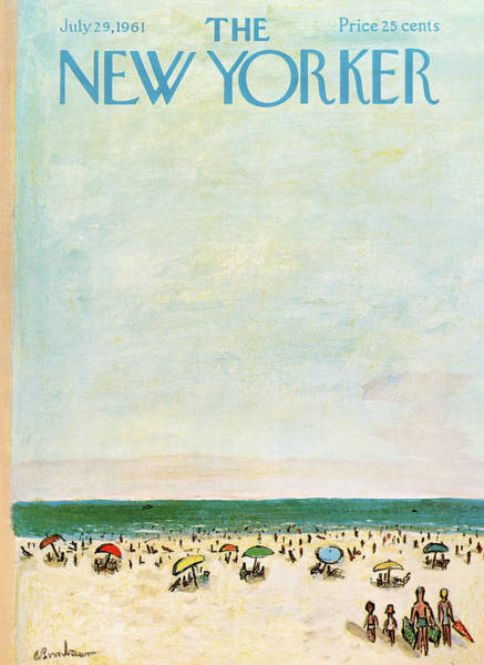 Summer Vacation Painting - New Yorker July 29th, 1961 by Abe Birnbaum