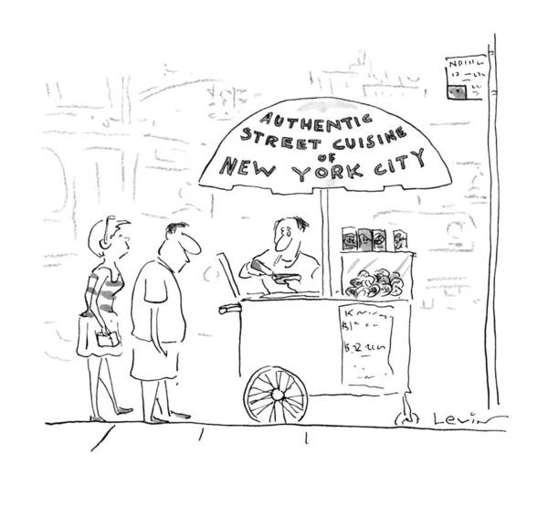 Vendor Drawing - New Yorker July 29th, 1996 by Arnie Levin