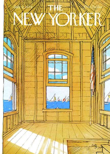 Sports Painting - New Yorker July 2nd, 1979 by Arthur Getz