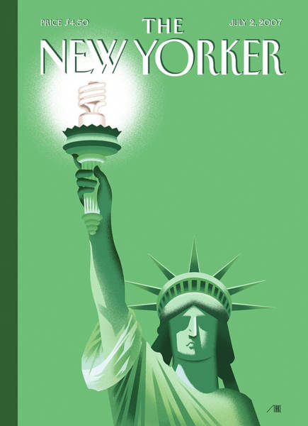 Conservation Painting - New Yorker July 2nd, 2007 by Bob Staake
