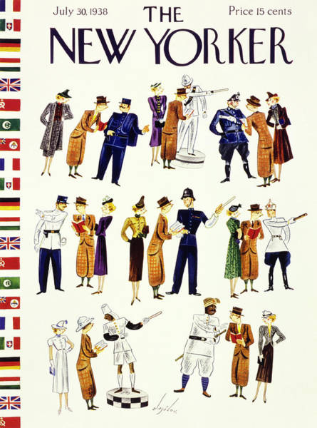 Wall Art - Painting - New Yorker July 30 1938 by Constantin Alajalov