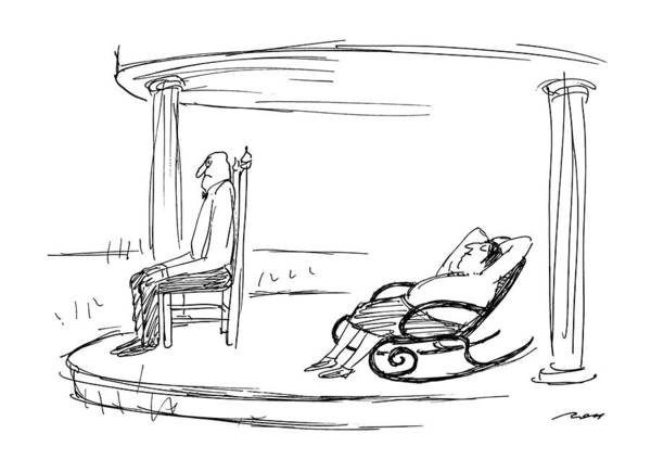 Lounging Drawing - New Yorker July 30th, 1990 by Al Ross