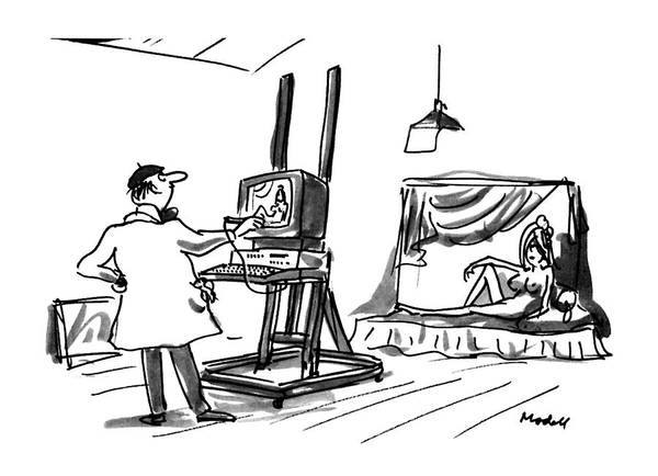 Monitor Drawing - New Yorker July 30th, 1990 by Frank Modell