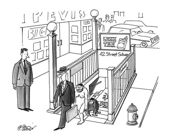 Urban Drawing - New Yorker July 30th, 1990 by Peter Steiner