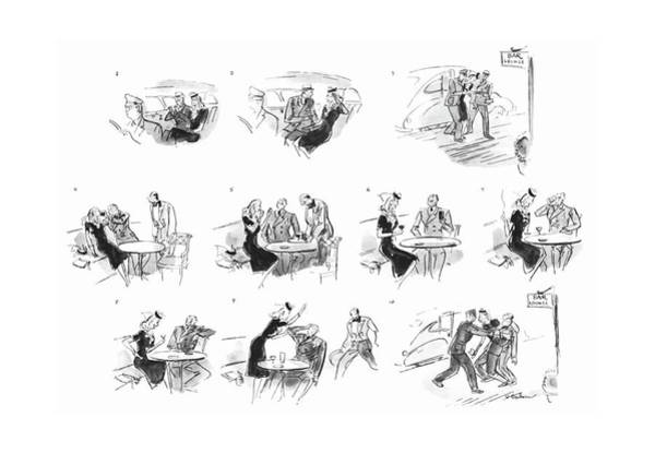 Food And Drink Drawing - New Yorker July 31st, 1943 by Perry Barlow