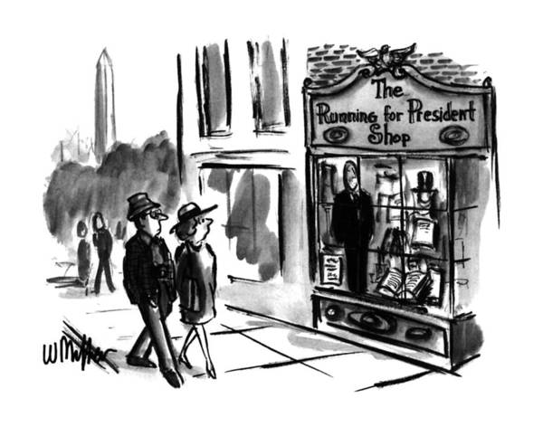 Washington Dc Drawing - New Yorker July 31st, 1995 by Warren Miller