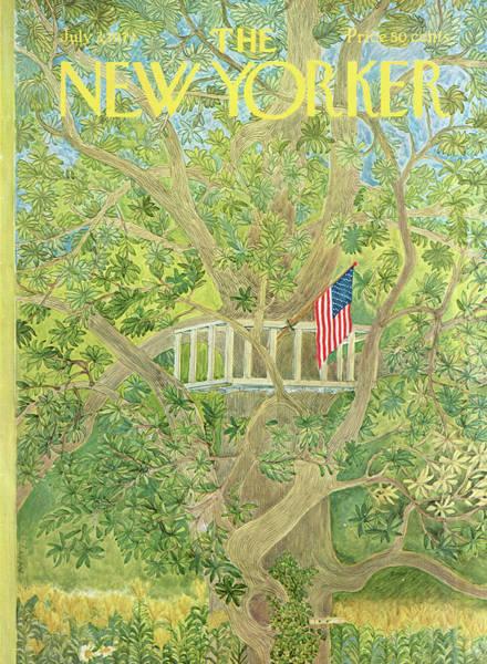 Usa Painting - New Yorker July 3rd, 1971 by Ilonka Karasz