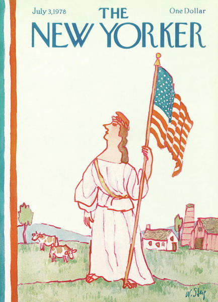 Patriotism Painting - New Yorker July 3rd, 1978 by William Steig