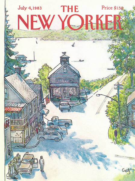 Summer Vacation Painting - New Yorker July 4th, 1983 by Arthur Getz