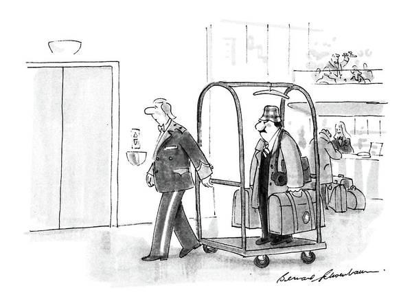 Luggage Drawing - New Yorker July 4th, 1988 by Bernard Schoenbaum
