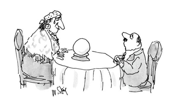 Fortune Teller Drawing - New Yorker July 4th, 1988 by William Steig
