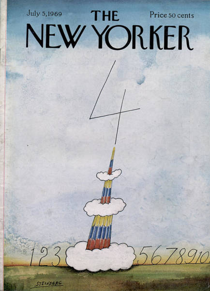 1969 Painting - New Yorker July 5th, 1969 by Saul Steinberg