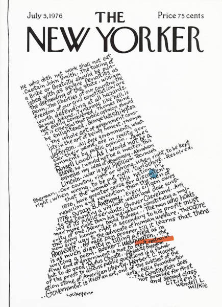 America Painting - New Yorker July 5th, 1976 by Lou Myers