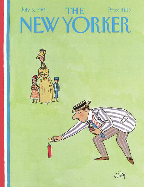 Family Painting - New Yorker July 5th, 1982 by William Steig
