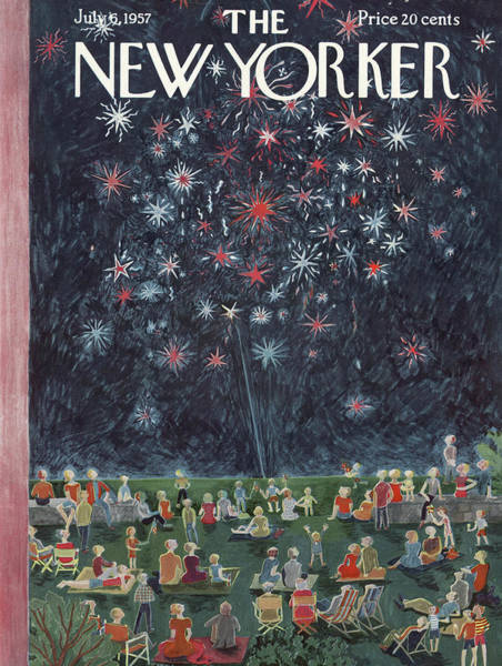 Celebration Painting - New Yorker July 6th, 1957 by Ilonka Karasz