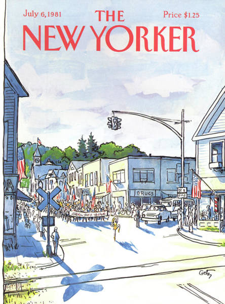 Suburban Painting - New Yorker July 6th, 1981 by Arthur Getz