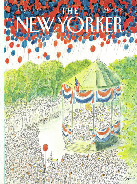 America Painting - New Yorker July 6th, 1987 by Jean-Jacques Sempe