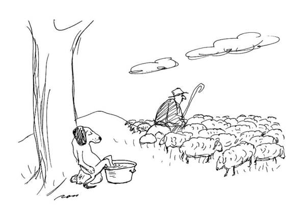 Rural Drawing - New Yorker July 6th, 1992 by Al Ross