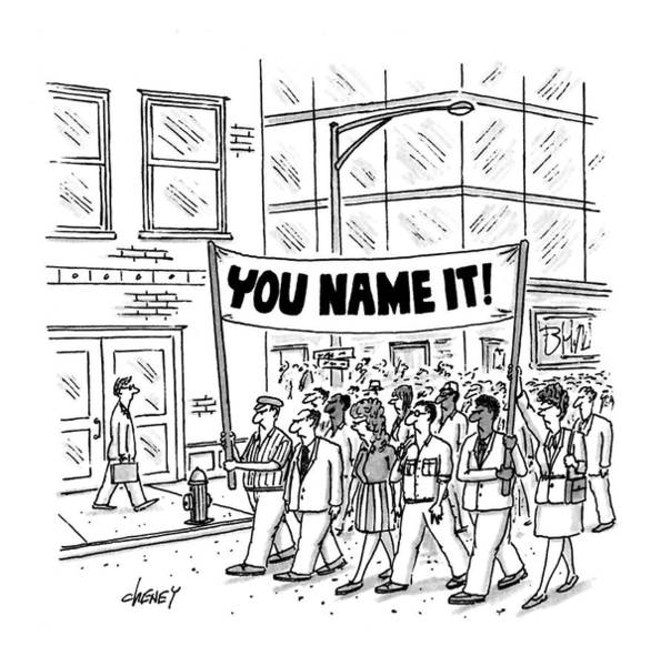 Personnel Drawing - New Yorker July 6th, 1992 by Tom Cheney