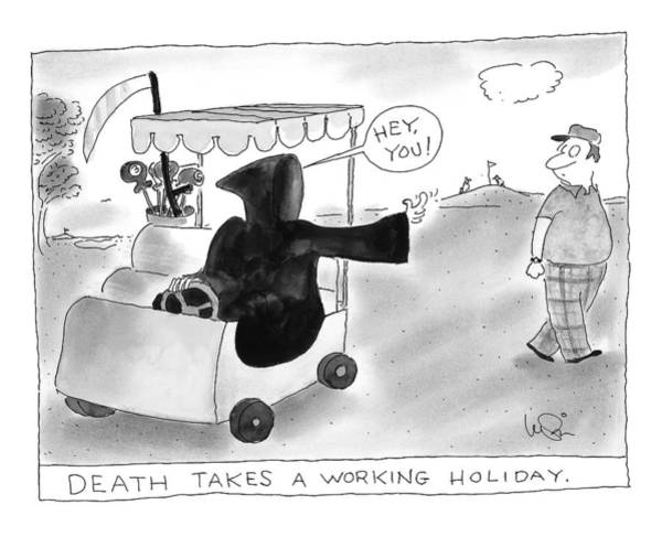 Golf Drawing - New Yorker July 6th, 1998 by Arnie Levin