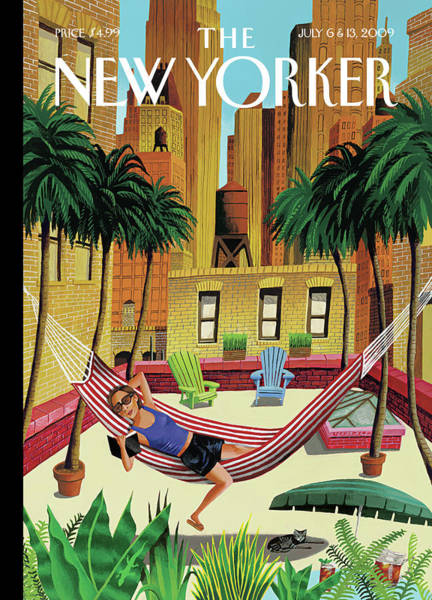 Painting - New Yorker July 6th, 2009 by Mark Ulriksen