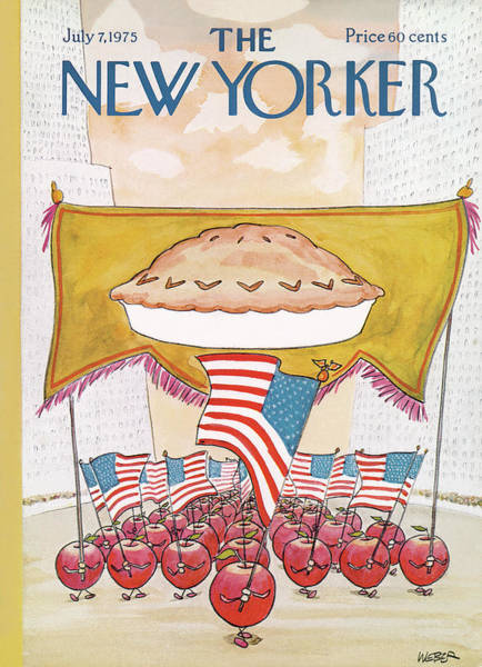 Apples Painting - New Yorker July 7th, 1975 by Robert Weber