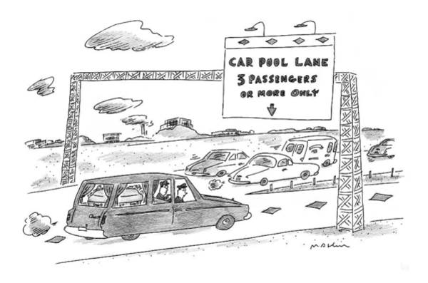 Traffic Drawing - New Yorker July 7th, 1997 by Michael Maslin