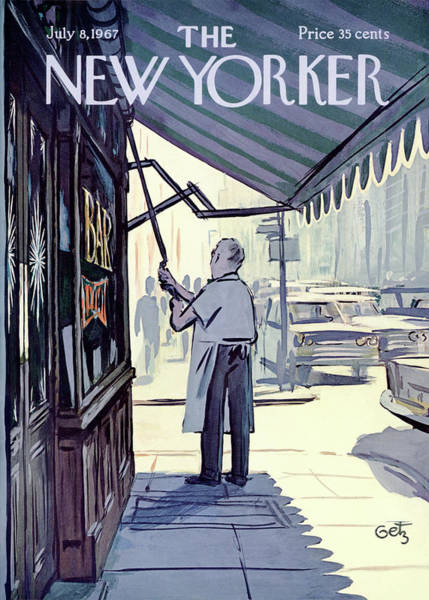 Dine Painting - New Yorker July 8th, 1967 by Arthur Getz