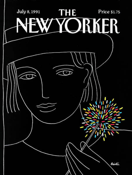 Hat Painting - New Yorker July 8th, 1991 by Heidi Goennel