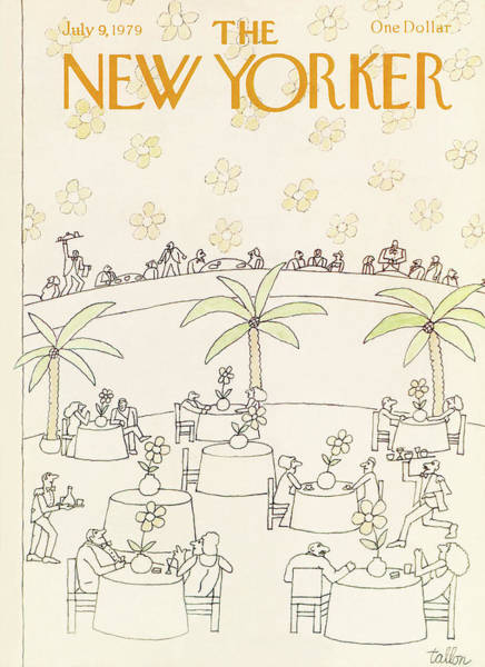 Table Painting - New Yorker July 9th, 1979 by Robert Tallon