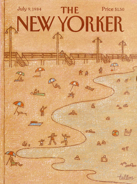 Drawing Painting - New Yorker July 9th, 1984 by Robert Tallon