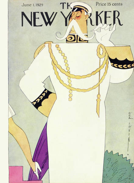 Magazine Cover Painting - New Yorker June 1 1929 by Rea Irvin