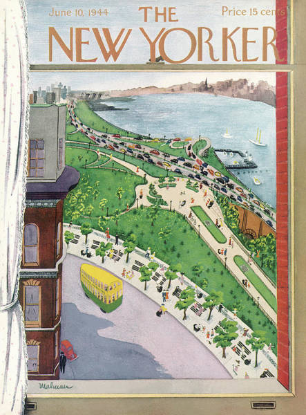 Travel Painting - New Yorker June 10th, 1944 by Christina Malman