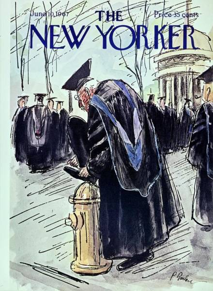 Graduation Painting - New Yorker June 10th 1967 by Perry Barlow